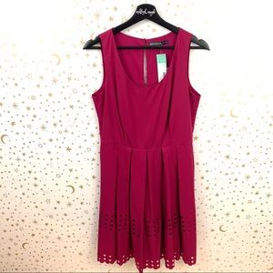 Brixon Ivy   Magenta James Laser Cut Dress NWT
